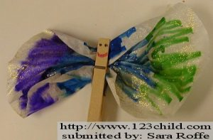 Clothespin Butterfly