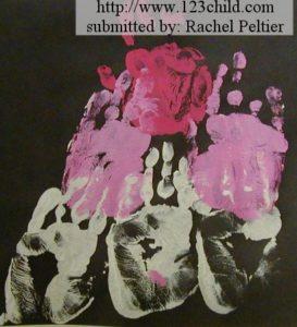 Handprint Heart Pyramid