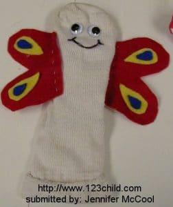 Caterpillar/Butterfly Sock
