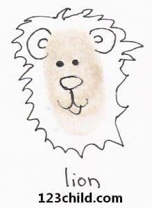 Fingerprint Lion
