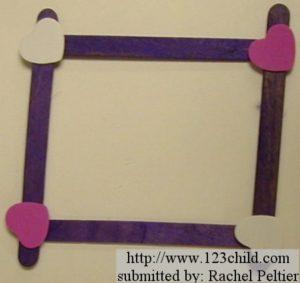 Heart Popsicle Frame