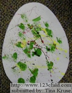 Splatter Paint Egg