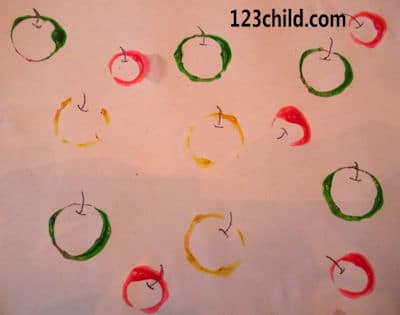 apple paint stamp